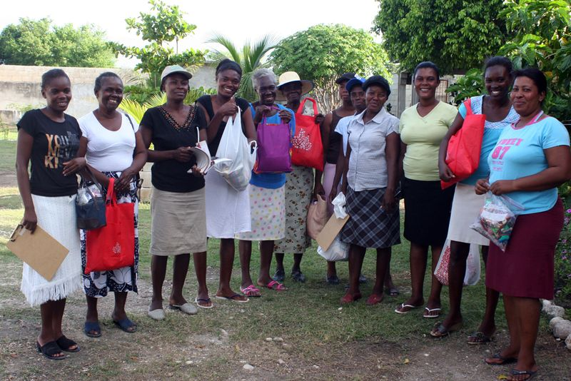 Women with supplies